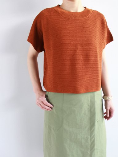 FACTORY T SLEEVE CASUAL SWEATER /  WASHI × COTTON (LADIES)