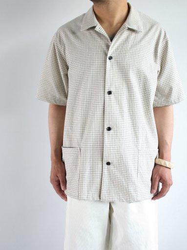 THE HINOKI Organic Cotton S/S Shirt - Graph Check (MENS)