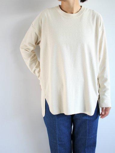unfil raw silk jersey long-sleeve tee / natural (LADIES)