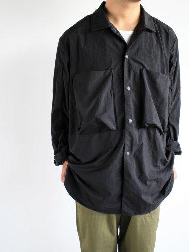 blurhms Nylon Utility Shirt Jacket - Black (MENS)