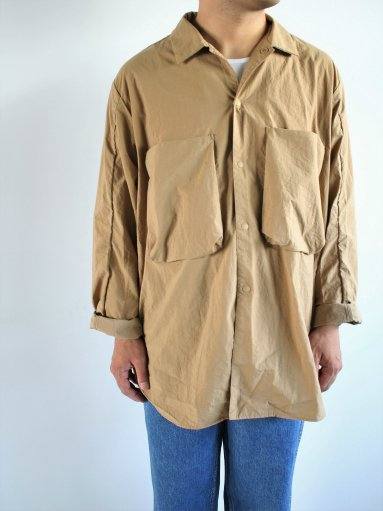 blurhms Nylon Utility Shirt Jacket - Beige (MENS)