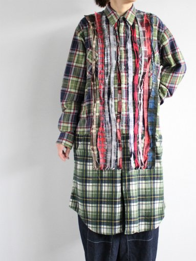 Rebuild By Needles Flannel Shirt → Ribbon Dress (LADIES)