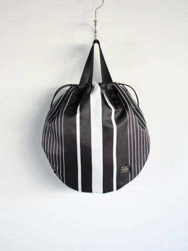 NOMA t.d. × PORTER Stripe Helmet Bag / Black×White