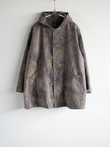 NEEDLES Bush Parka - C/Pu Back Sateen / Uneven Dye - Olive (MENS)