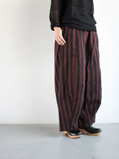 NEEDLES H.D. Pant - Aizu Tsumugi - Blk/Red(LADIES)