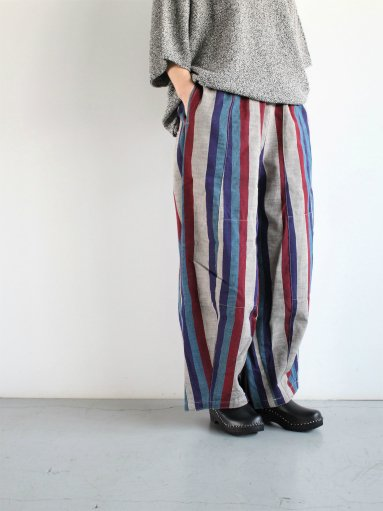 NEEDLES H.D. Pant - Aizu Tsumugi - Wht/Ppl/Red/Ble (LADIES)