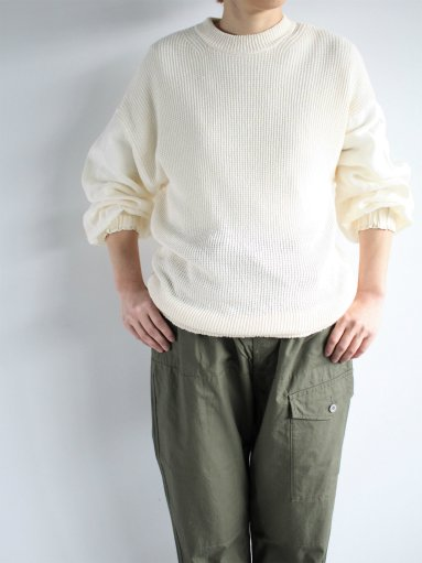 FACTORY KNIT × SHIRT / COTTON LINEN × BELGJAN LINEN - WHITE (LADIES)