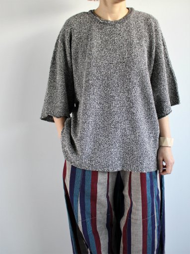 FACTORY BELGJAN LINEN × AMOSSA DOLMAN KNIT / WHITE (LADIES)