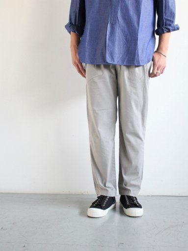 RICCARDO METHA 2TUCK TROUSERS - RIPSTOP / GRAY (MENS)