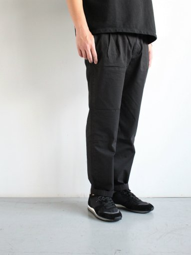 RICCARDO METHA 2TUCK TROUSERS - RIPSTOP / BLACK (MENS)