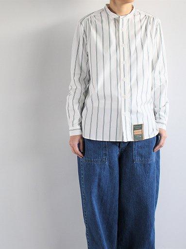 ASEEDONCLOUD HW collarless shirt - Stripe (LADIES)