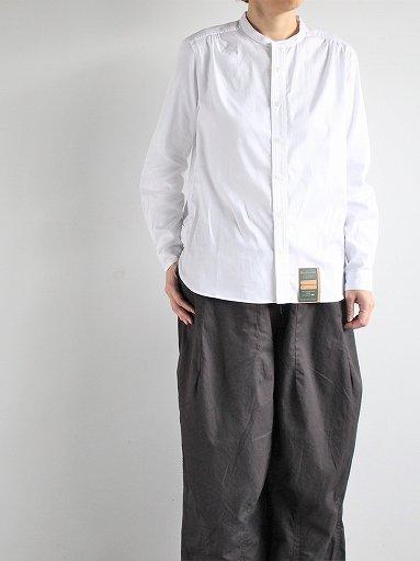 ASEEDONCLOUD HW collarless shirt - White (LADIES)