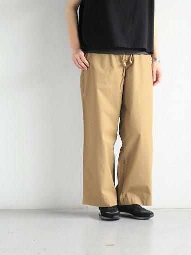eleven 2nd Fine Cotton Nylon Wide Pants (LADIES)