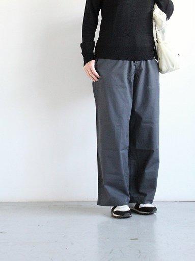 eleven 2nd Fine Cotton Poplin Wide Pants / Slate (LADIES)