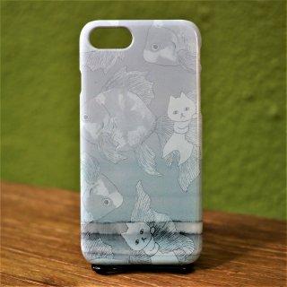 「ネコと泳ぐ」 iPhoneケース