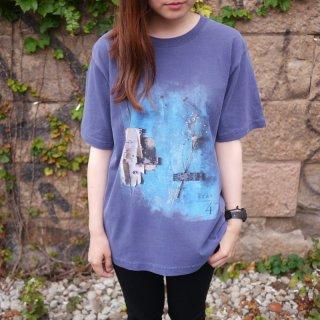 「Tras4」ピグメント加工Tシャツ<B:ネイビー>