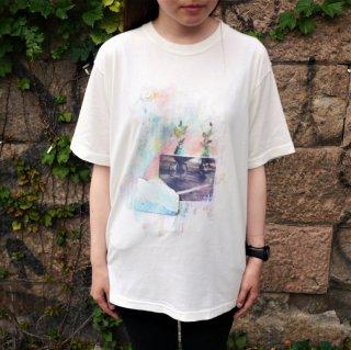 Tras4 ピグメント加工TシャツC(ホワイト)