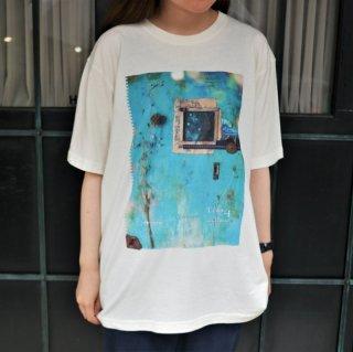 Tras4 ピグメント加工TシャツD(ホワイト)