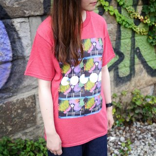 「COLOR」T-Shirts(ヘザーレッド)
