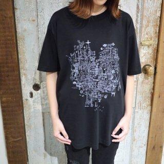 「NEO PARADE」Tシャツ<B:スミクロ>