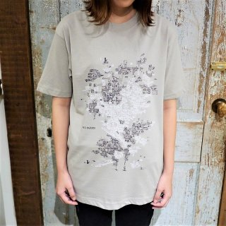 「NEO PARADE」Tシャツ<A:ミルキーグレー>