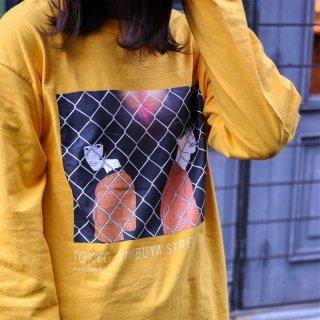 「TOKYO SHIBUYA STREET」 Long-Sleeve T(ゴールド)