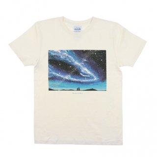 「猫と夜空」Tシャツ<ナチュラル>