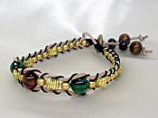 天然石/2色のタイガーアイのラップブレス