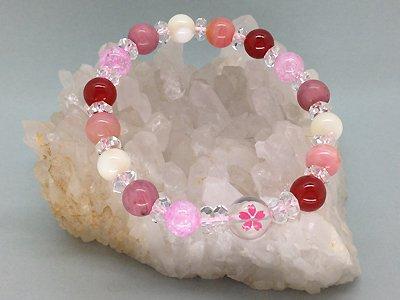 天然石/子宝・安産祈願ブレスレット(桜)