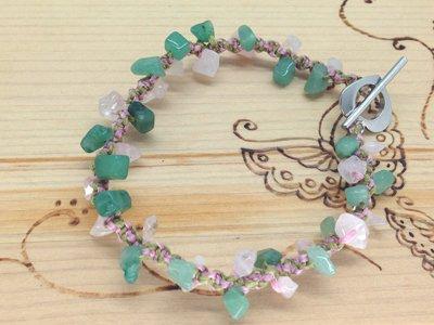 天然石/春色天然石の結びブレス
