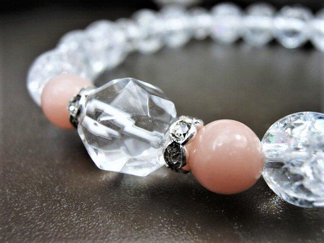 10月誕生石ブレスレット-ピンクオパール