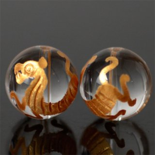 金彫り水晶4A 白虎