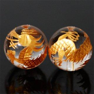 金彫り水晶4A 青龍