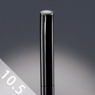 チタン印鑑 鏡面ブラック 銀行印/認印 10.5mm