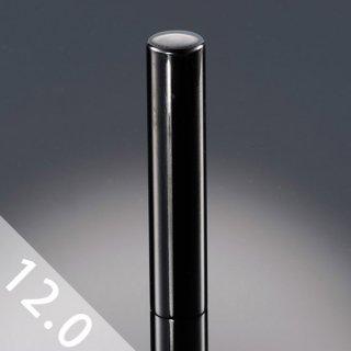 チタン印鑑 鏡面ブラック 銀行印/認印 12mm