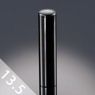 チタン印鑑 鏡面ブラック 実印 13.5mm