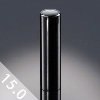 チタン印鑑 鏡面ブラック 実印 15mm