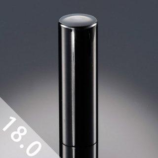チタン印鑑 鏡面ブラック 実印 18mm