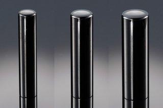 チタン印鑑 鏡面ブラック 印鑑セット 18mm 15mm 12mm