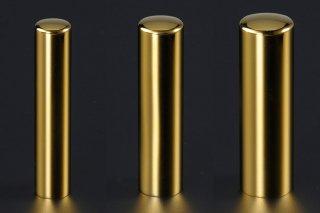 チタン印鑑 鏡面ゴールド 印鑑セット 18mm 13.5mm 12mm