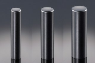 チタン印鑑 ブラストブラック 印鑑セット 18mm 15mm 10.5mm