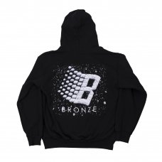 LOGO SNOW HOODY - BLACK