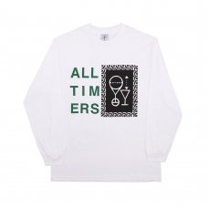 (Alltimers) ETCHING SKETCHY L/S TEE - WHITE