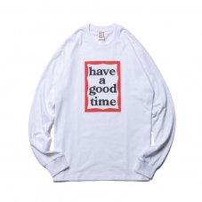(have a good time) FRAME L/S TEE - WHITE