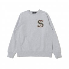 (Diaspora Skateboards) B-BALL CREWNECK SWEATSHIRT - GREY