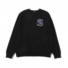 (Diaspora Skateboards) B-BALL CREWNECK SWEATSHIRT - BLACK