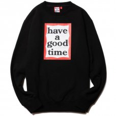 (have a good time) FRAME CREWNECK - BLACK