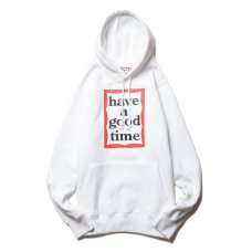 (have a good time) FRAME PULLOVER HOODIE - WHITE
