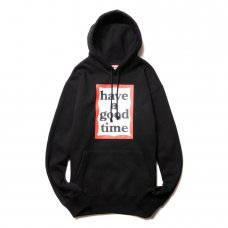 (have a good time) FRAME PULLOVER HOODIE - BLACK