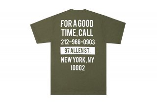 (The Good Company) GOOD TIME TEE - MILITARY GREEN/WHITE